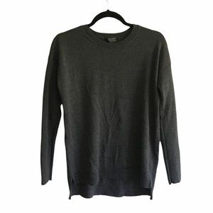 LORD & TAYLOR Wool Long Sleeve Sweater Gray S